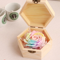 Soap Rose Hex Gift Box