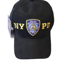 NYPD Baseball Hat New York Police Department Black & Gold One Size