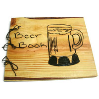 Large Beer Book Notebook Wooden Brew Log by BillsWoodenPleasures