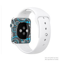 The Retro Blue Circle-Dotted Pattern Full-Body Skin Kit for the Apple Watch