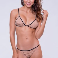 Dbrie Swim Cameron Top - Nude Net/Black