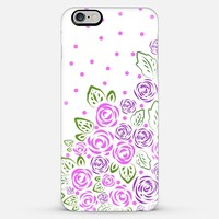 Garden Rose and Dots Lavender iPhone 6 Plus case by Lisa Argyropoulos | Casetify