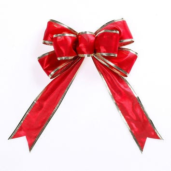Merry Christmas 22cm Bowknot Decor Christmas Tree Hanging Decoration Xmas Bowknot Ornament [9343511492]