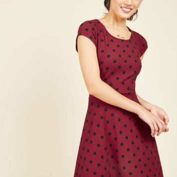Swing Dance Seminar A-Line Dress | Mod Retro Vintage Dresses | ModCloth.com