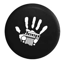 Jeep Wave Handprint Grill Wrangler Club , Jeep, RV, Camper, Spare, Tire, Cover