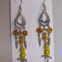 """Parrot Millefiori Earrings Handcrafted """"Grand Opening Sale"""""""