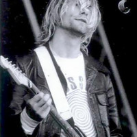 Kurt Cobain Poster Flag Live Guitar Photo Tapestry