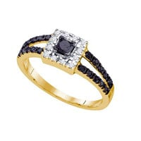 Diamond Fashion Ring in 10k Gold 0.58 ctw