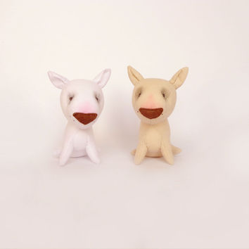 Two miniature toys Bull Terrier-Set Of 2 Toys-Stuffed Animals toys-save10%