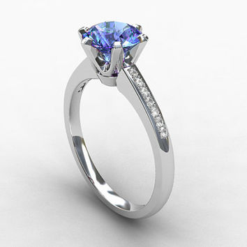 Light blue sapphire ring, engagement ring, diamond engagement, white gold, blue sapphire engagement, sapphire ring, wedding ring
