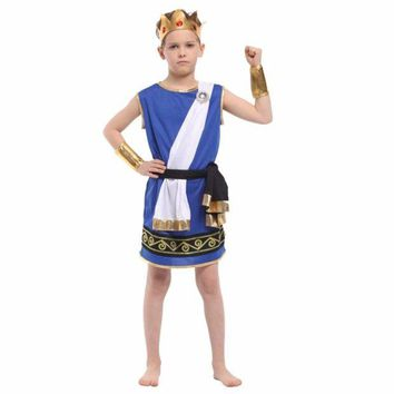 DCCKH6B Shanghai Story Boy Stage Cosplay Costumes Zeus Children Play Dress Up Cosplay New Boy Halloween Costumes