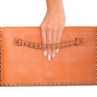 Pilot Studs Trim Detail Clutch Bag