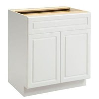 Heartland Cabinetry, 30 in. 1 Drawer with 2 Door Base Cabinet in White, 8013015P at The Home Depot - Mobile