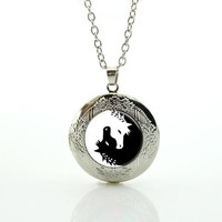 MOONLIGHT UNICORN PENDANT NECKLACE