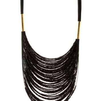 Layered Beaded Statement Necklace by Charlotte Russe - Gold
