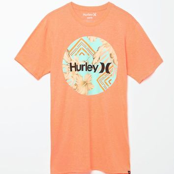 Hurley Geode Crush T-Shirt - Mens Tee - Orange