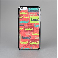 The Vintage Coral and Neon Mustaches Skin-Sert Case for the Apple iPhone 6