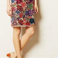 Palenque Pencil Skirt by Maeve Pink