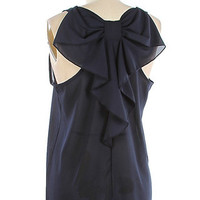 Bow Back Tank Top - Navy - elle & k boutique