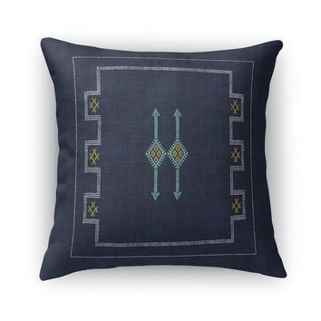 CACTUS RAIN NAVY Accent Pillow By Becky Bailey