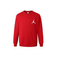 Jordan Basketball Hooded Sports Casual Sleeve Shirt Red