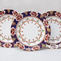 Cake Plates, China Plates, Set of Three, Side Plate Set, Doric China Co., Art Deco - 1920s / 1930s