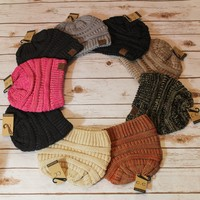Striped Colored CC Beanies