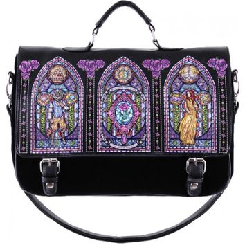 HANDBAG | Beauty & the Beast Stained Glass Window Satchel Bag
