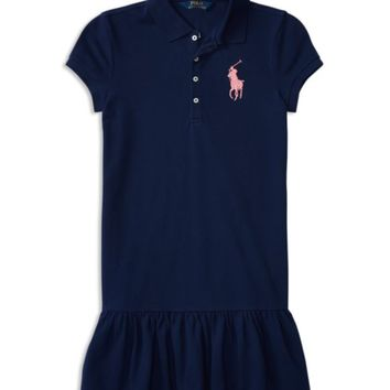 Ralph Lauren Childrenswear Girls' Drop-Waist Shirt Dress - Big Kid | Bloomingdales's