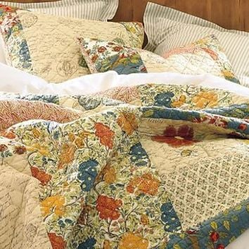 Butterfly Poppy Patchwork Quilt & Sham | Pottery Barn