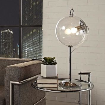 Modern Clear Globe Table Lamp