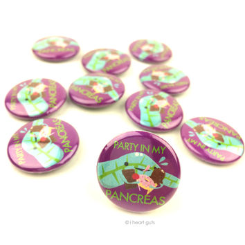 *NEW* - Party in My Pancreas Buttons - Set of 10