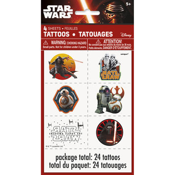 Star Wars The Force Awakens Temporary Tattoos [4 Sheets]