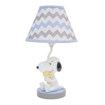 Lambs & Ivy My Little Snoopy with Woodstock Nursery Lamp with Shade & Bulb