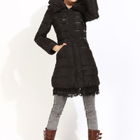 Korean lace white duck down coat ghl3440