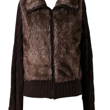 Fur Zip Up Jacket
