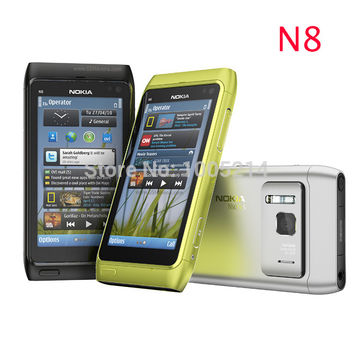 "Original Nokia N8 mobile phone 3G WIFI GPS 12MP Touchscreen 3.5"" Unlocked Mobile Phone 16GB Internal Free Shipping"