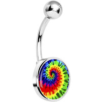 Tie Dye Swirl Belly Ring | Body Candy Body Jewelry