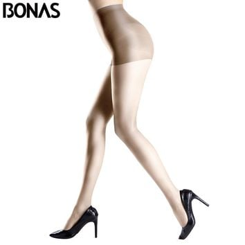 BONAS Transparent  Lolita Fashion Knitting Polyester Female Pantyhose