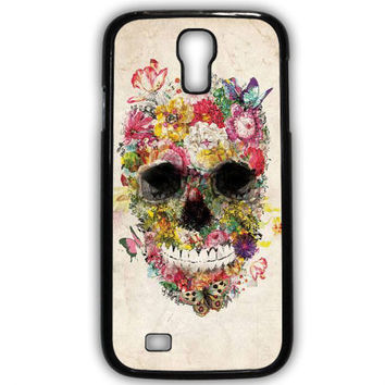 The Beautifull Flower Skull Samsung Galaxy Note 3 4 Galaxy S3 S4 S5 S6Case