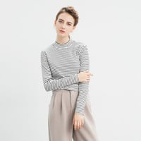 2016 Fall Fashion Long Sleeve Stripe Tops [6466180420]