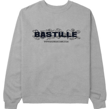 bastille sweater Gray Sweatshirt Crewneck Men or Women for Unisex Size with variant colour