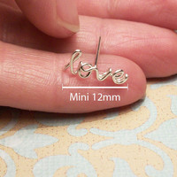 MINI Love Cartilage Earring Sterling Silver or Gold by wirewrap