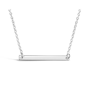 Simple Gold Horizontal Bar Necklace