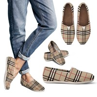 Women's Casual Shoes Inspired By Burberry