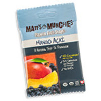 Matt's Munchies Premium Fruit Snacks Organic Mango Acai 12 (1 oz.) packages per box