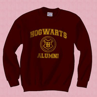 Hogwarts Alumni Unisex Sweatshirt yellow ink