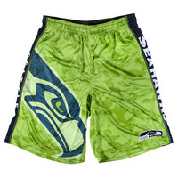Seattle Seahawks Official NFL Big Logo Camo Shorts