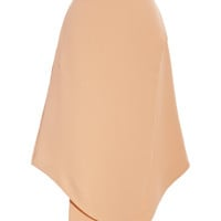 Opening Ceremony Theroux Angled-Hem Crepe Skirt Nude