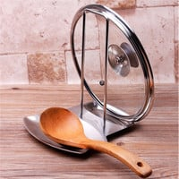 Stainless Steel Lid and Spoon Rest
